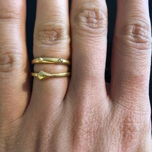 Madewell Stacking Ring Set - Gold 7